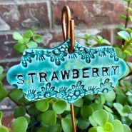 Strawberry Ceramic Garden Marker