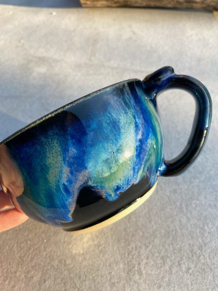 Bigfoot Alien Abduction Handmade Mug