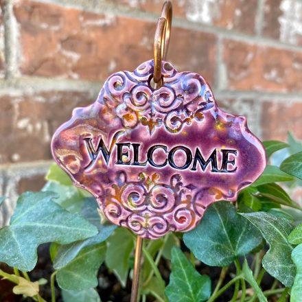 Welcome Ceramic Garden Marker