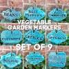 Ceramic Vegetable Garden Markers Set
