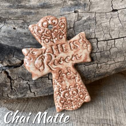 He is Risen Cross Chai Matte