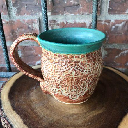 Right Lace Handmade Mug