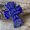 He is Risen Cross Cobalt