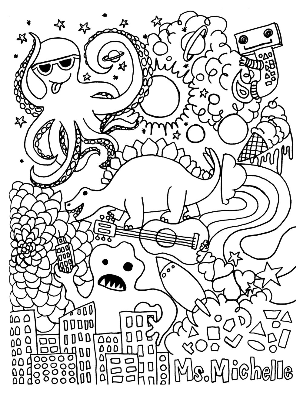 medium resolution of June: coloring page