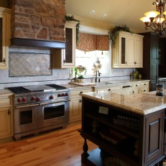 French Country Kitchen Island Wallpaper For Kitchens Michellegrilloportfolio