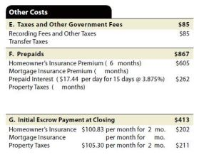 Other costs section1