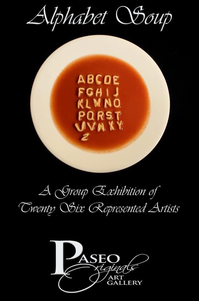 Alphabet Soup at Paseo Originals Art Gallery