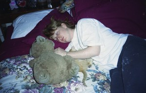 Michelle and Snicker napping 1994
