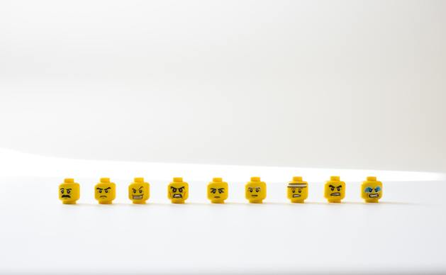 Negativity is just another emotion. Lego heads prove it!