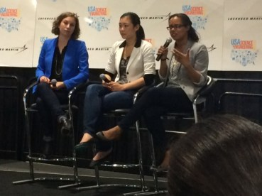 Our founder, Kat Calvin, speaking on a panel about women in STEM.