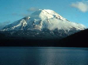 Mount St. Helens before the 1980 eruption. Beautiful, isn't it?