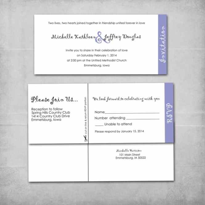 Layered Wedding Invitation And Reply Card Set Mice James Designs