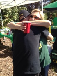 Tailgaters mean...hugs