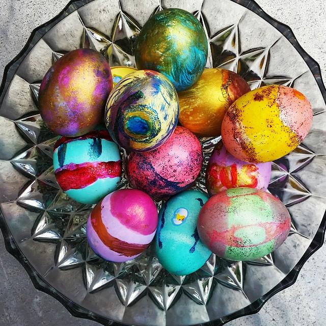 Happy Easter #happyeaster #eastereggs #art #color #easter2015
