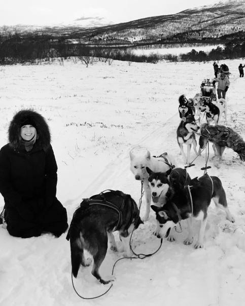 Me dogsledding