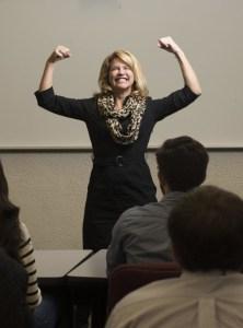 Michelle K. Johnston, Ph.D., Leadership Coach, Management Professor & Keynote Speaker - Power Pose