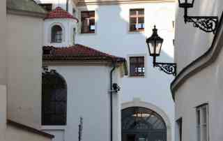 Augustine Hotel front entrance Prague