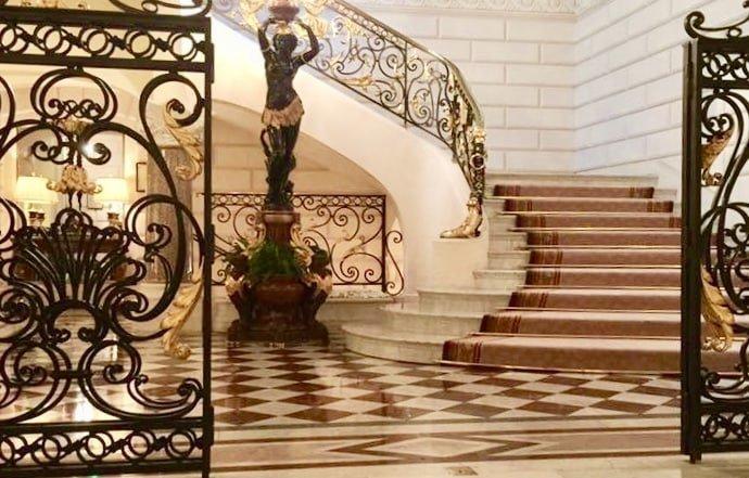Lobby of the Shangrila Hotel Paris