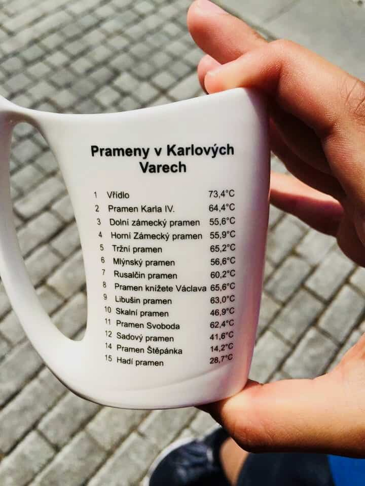 Karlovy Vary Mineral water sipping cu
