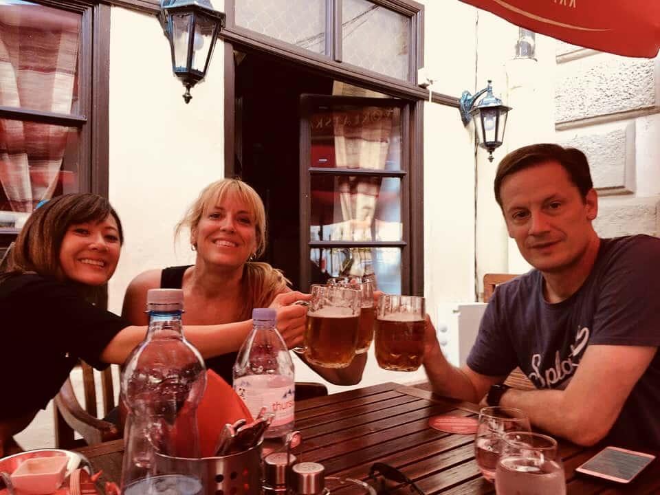 Beer Garden in Prague