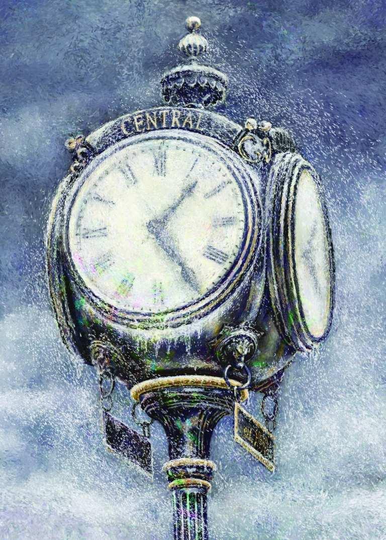 Holiday Card for UCO - Digital Illustration of Central Clock.