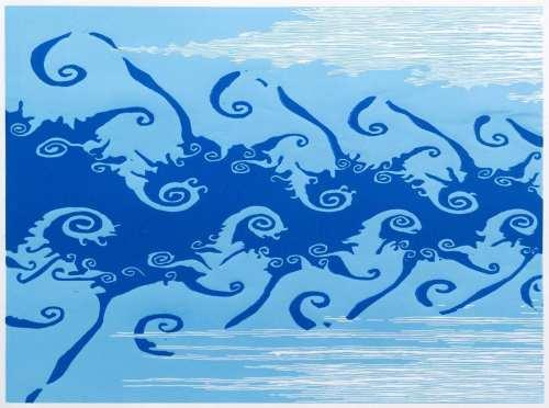 Title: Life-force: Sky and Sea (via Julia Set)