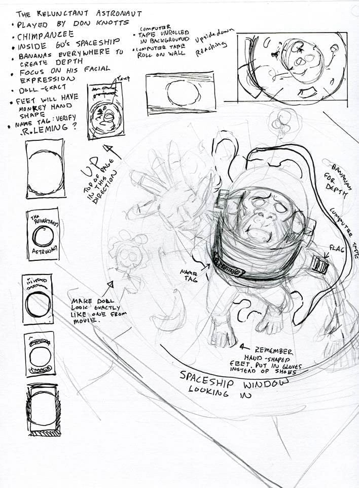The Reluctant Astronaut Preliminary Sketches