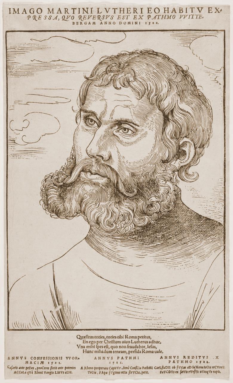 Martin Luther as Junker Jörge (1521-1522) by Lucas Cranach the Elder.