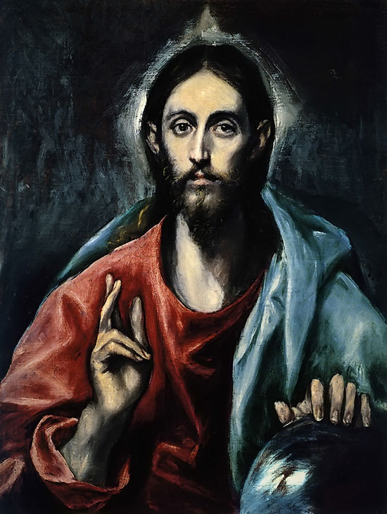 The Savior of the World (1600) by El Greco