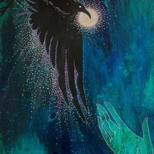 Survival Mode (Elijah's Raven), 2020 by Michelle L Hofer