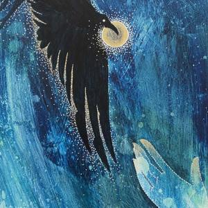 Divine Hope (Elijah's Raven), 2020 by Michelle L Hofer