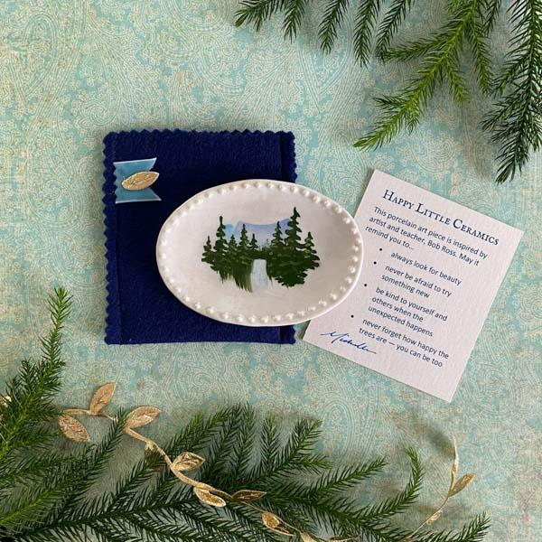 Happy Little Ceramics Small Trinket Dish by Michelle L Hofer