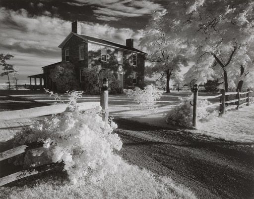 Cobblestone House by Minor White - infrared photograph silver gelatin print, 1958