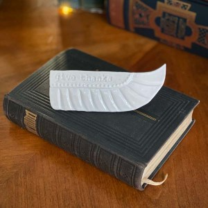 Ceramic Prayer Wing - give thanks by Michelle L Hofer, 2020