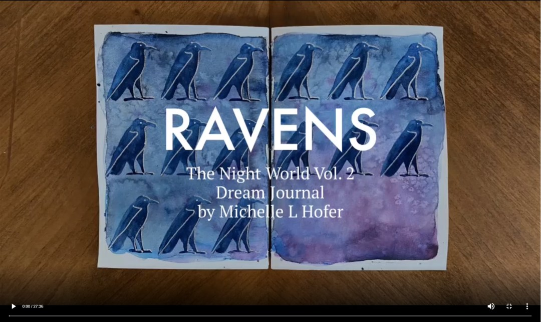 Ravens Video Link - The Night World Vol. 2 Dream Journal by Michelle L Hofer