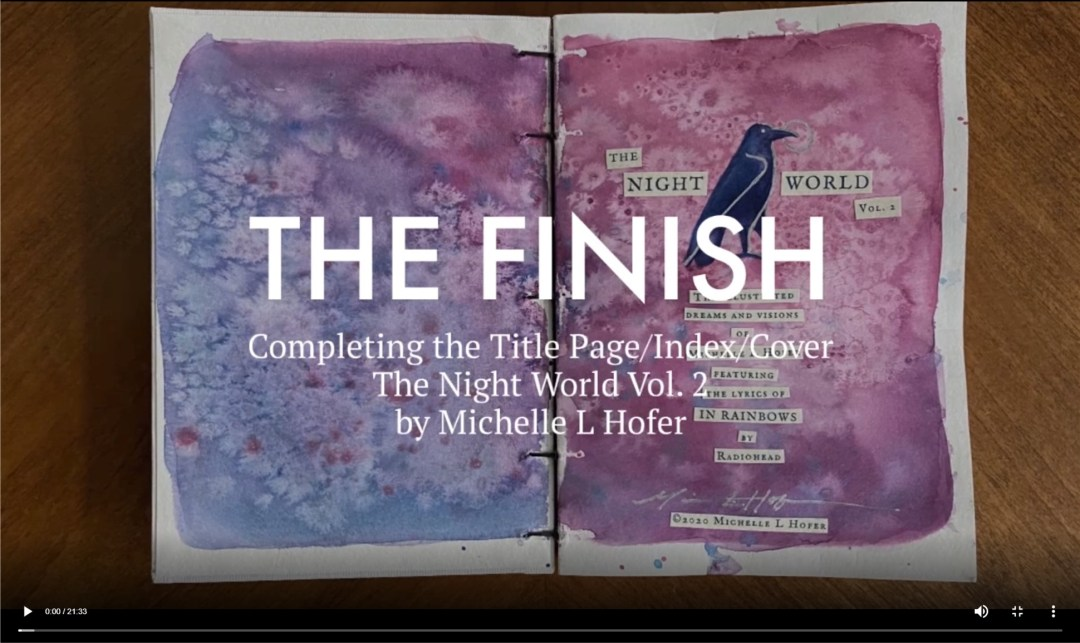 The Finish Video Link - The Night World Vol. 2 Dream Journal by Michelle L Hofer