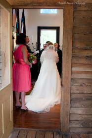 This view through the door was something different than any other wedding I have shot before.