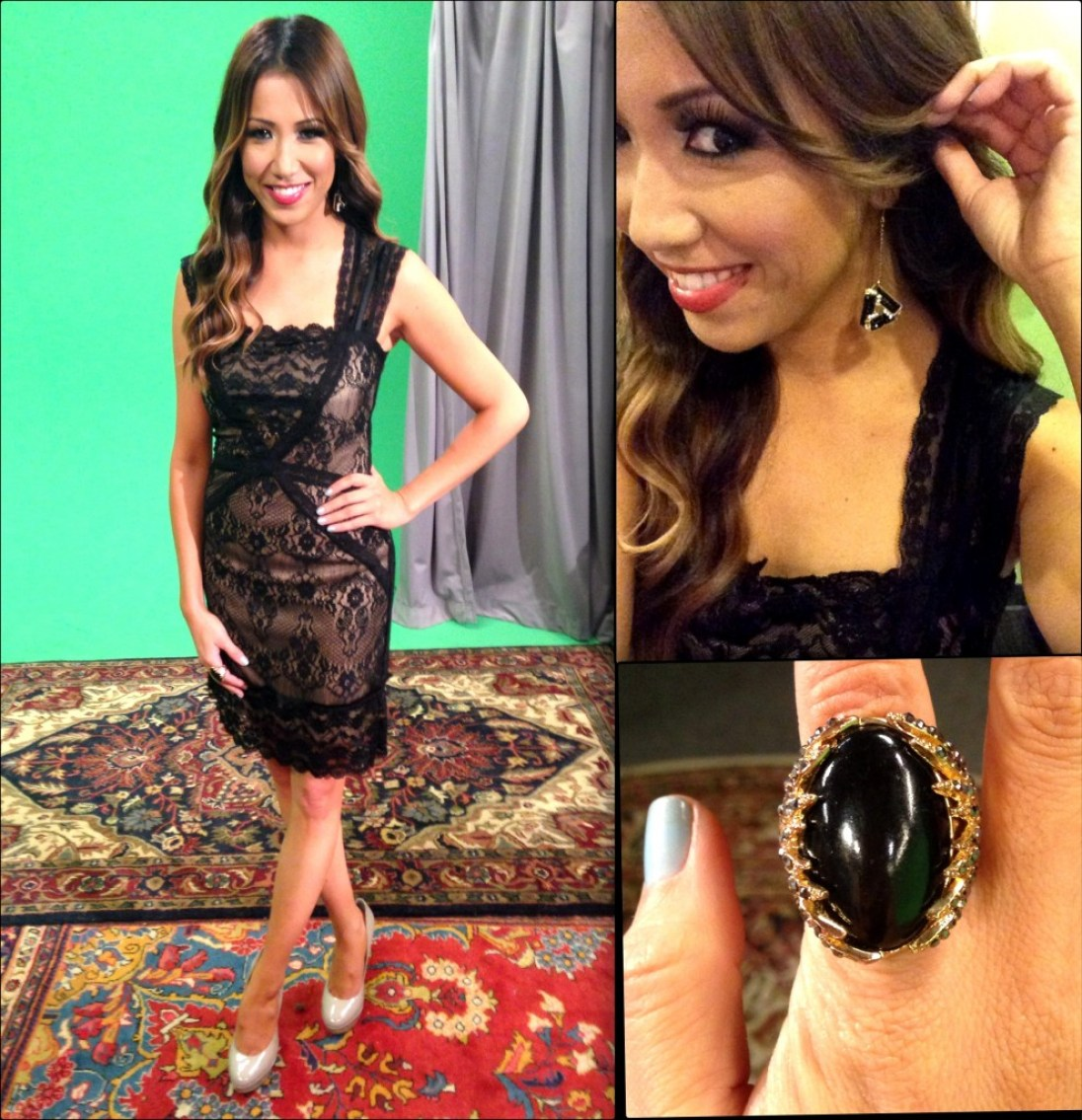 #MMSteez - Y! Sports Minute: Dress: Costa Blanca | Earrings: Jewelmint
