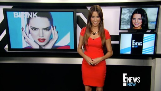 #MMSteez - E! News Now: Dress: Bianca Nero | Necklace: Jewelmint | Makeup: Liz Castellanos