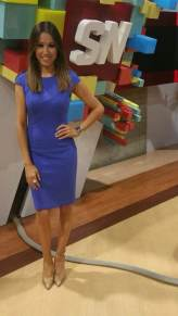 #MMSteez - SportsNation 4/2/15: Dress: Bebe | Shoes: Dolce Vita | Jewelry: Nissa and Nashelle Jewelry