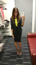 #MMSteez - SportsNation 4/10/15: Jacket: Gracia NYC | Top: Bariano Australia | Skirt: Bebe | Shoes: Dolce Vita | Makeup: Berly Rodriguez