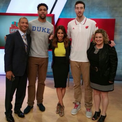 Friday, April 10th: Co-Hosting SportsNation with J.A. Adande and Ramona Shelburne - Frank Kiminsky and Jahlil Okafor join us!