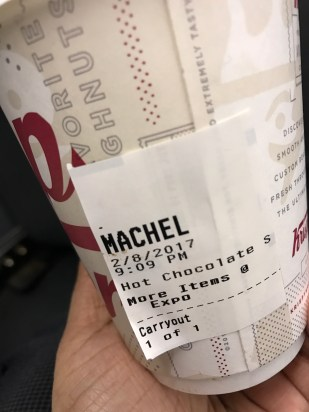 "Love how the cashier spelled ""michelle"""