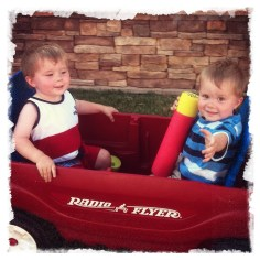 Riding in the back yard 2011