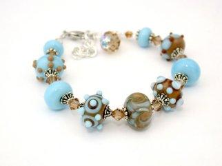 Flame worked glass bracelet by Sylvia Shekalo Glass