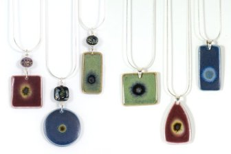 Ceramic pendant series by Iris Dorton Pottery