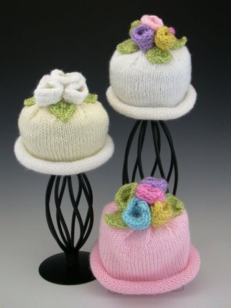 Hand-knitted hats by Anne Keaney