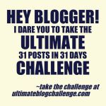 5 1/2 Reasons to Jump Into the Ultimate Blog Challenge