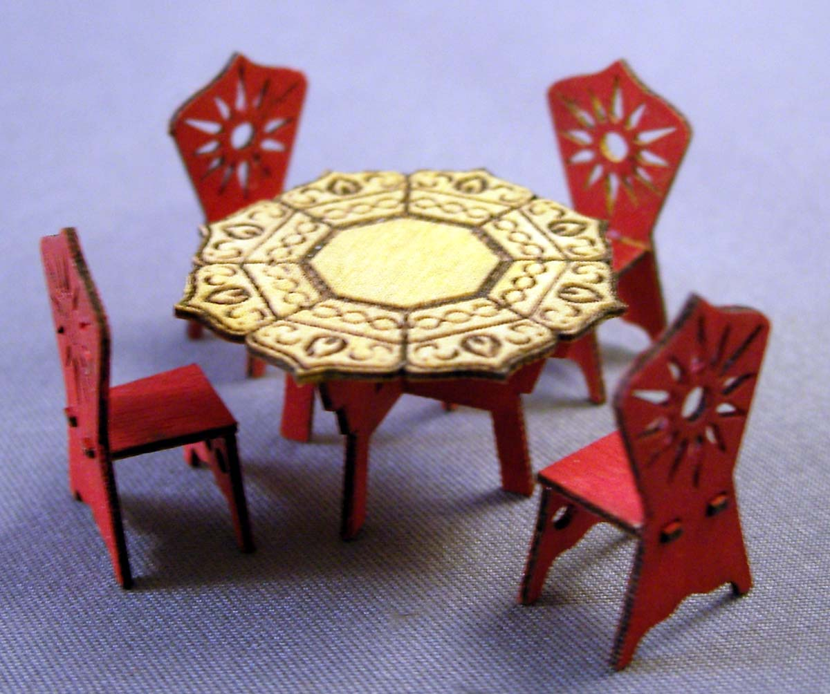 Aztec Chair All Products Michelle 39s Miniatures Laser Cut Dollhouse