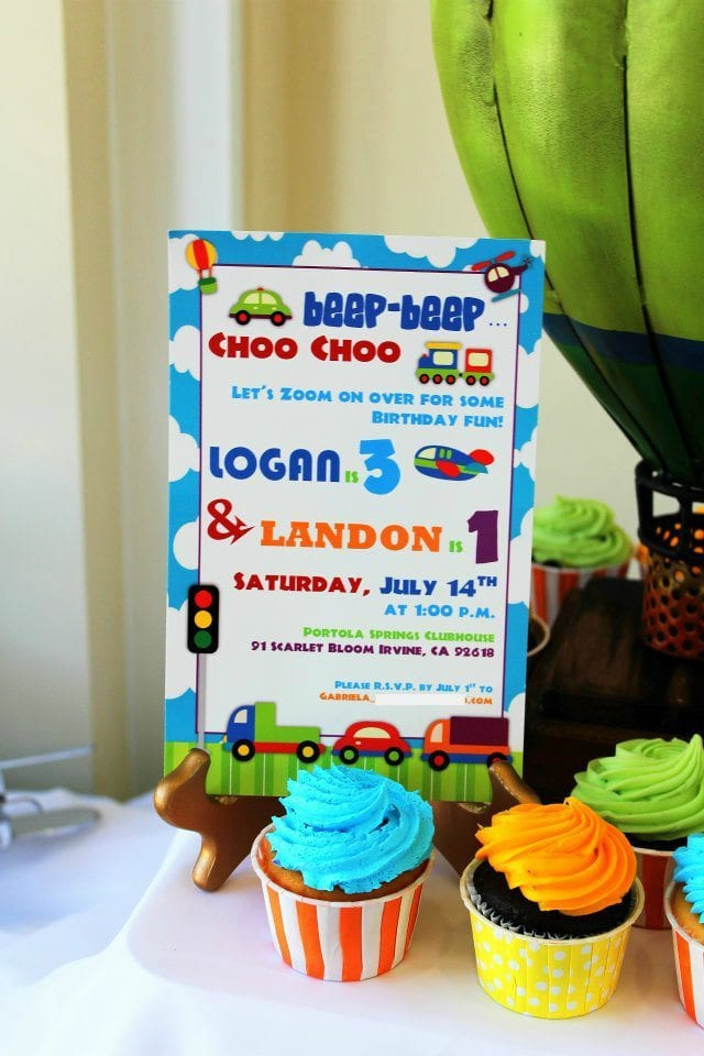 Beep-beep choo-choo Transportation Theme First Birthday Party Ideas for Boys by Michelle Stewart